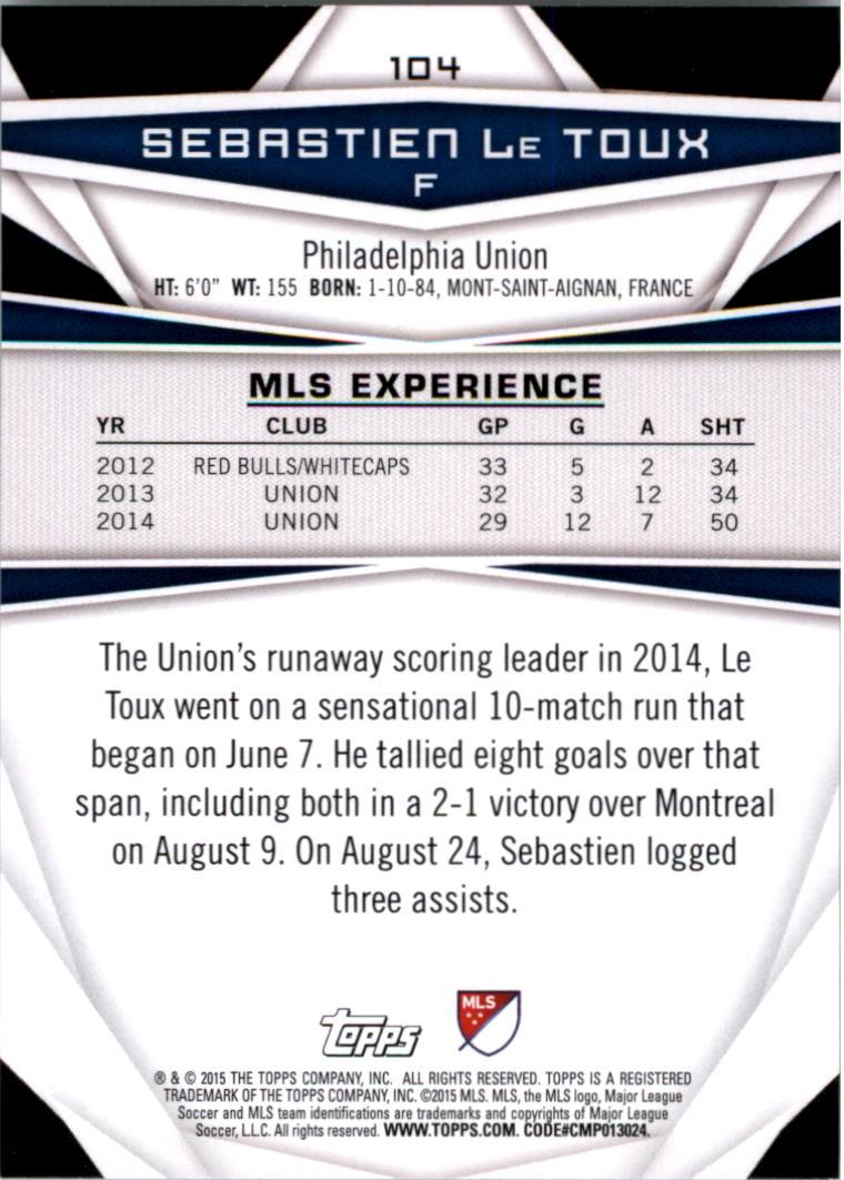 2015-Topps-MLS-Soccer-Base-Singles-Pick-Your-Cards thumbnail 152