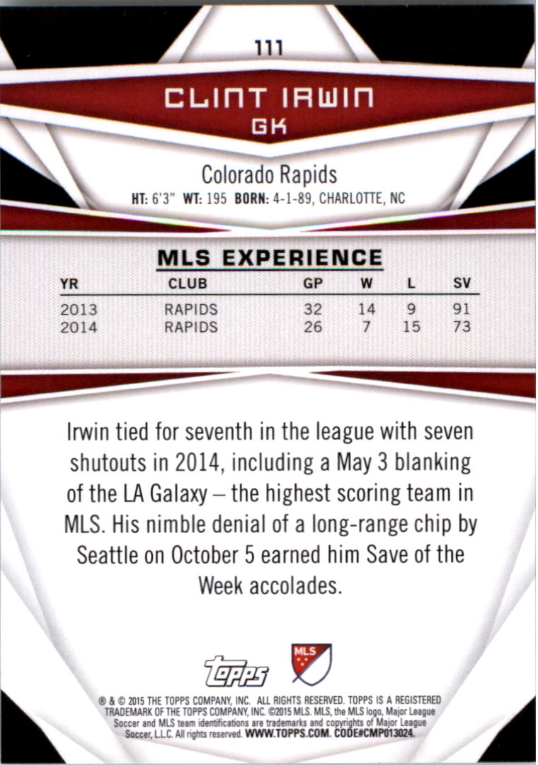 2015-Topps-MLS-Soccer-Base-Singles-Pick-Your-Cards thumbnail 164