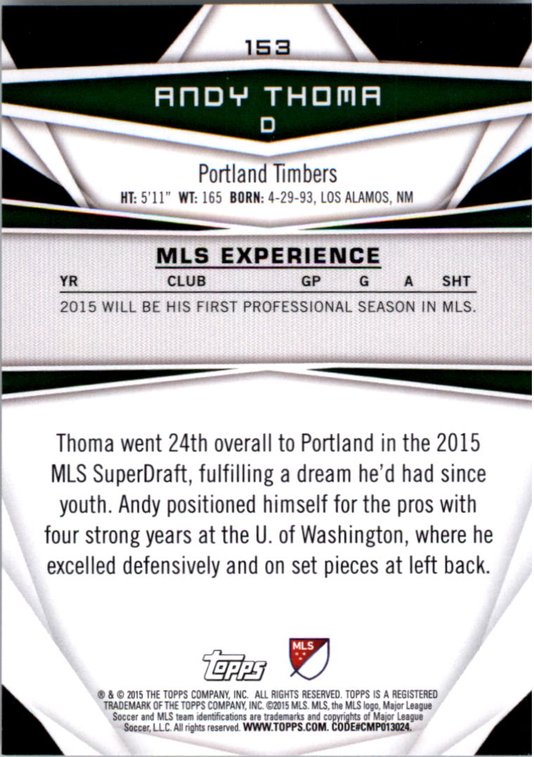 2015-Topps-MLS-Soccer-Base-Singles-Pick-Your-Cards thumbnail 221