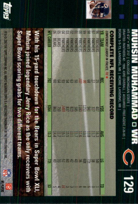 2007-Topps-Football-Base-Singles-117-223-Pick-Your-Cards thumbnail 27