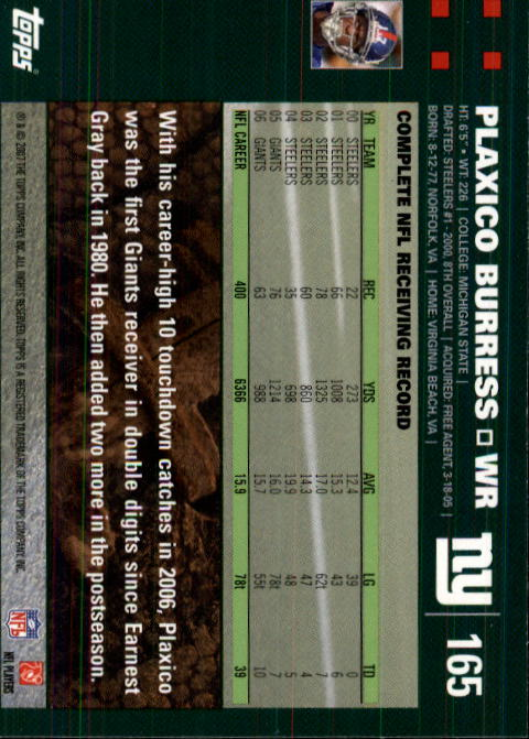 2007-Topps-Football-Base-Singles-117-223-Pick-Your-Cards thumbnail 95