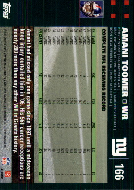 2007-Topps-Football-Base-Singles-117-223-Pick-Your-Cards thumbnail 97