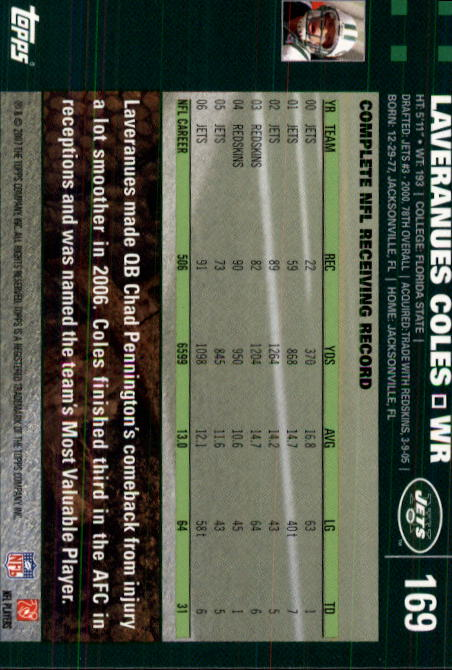 2007-Topps-Football-Base-Singles-117-223-Pick-Your-Cards thumbnail 103