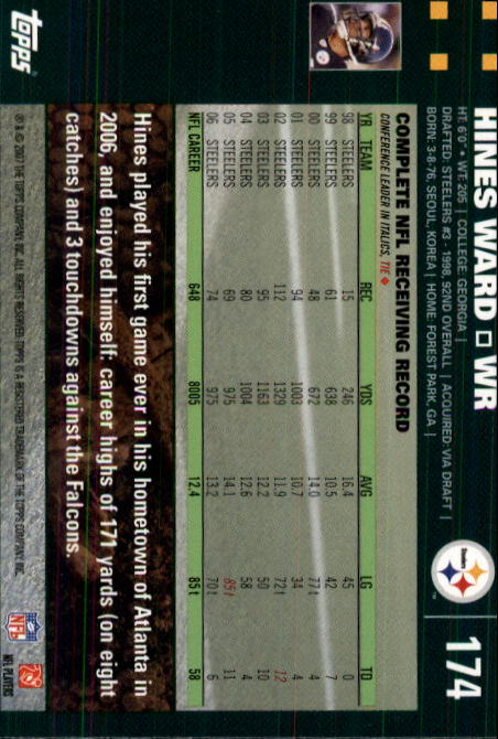 2007-Topps-Football-Base-Singles-117-223-Pick-Your-Cards thumbnail 109