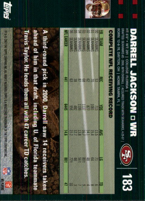 2007-Topps-Football-Base-Singles-117-223-Pick-Your-Cards thumbnail 125