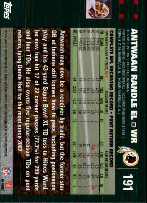 2007-Topps-Football-Base-Singles-117-223-Pick-Your-Cards thumbnail 141