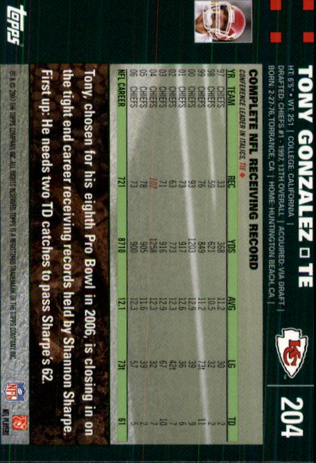 2007-Topps-Football-Base-Singles-117-223-Pick-Your-Cards thumbnail 165