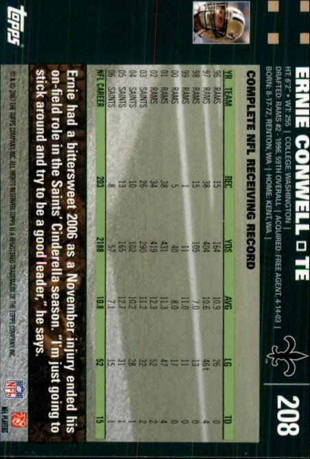 2007-Topps-Football-Base-Singles-117-223-Pick-Your-Cards thumbnail 173