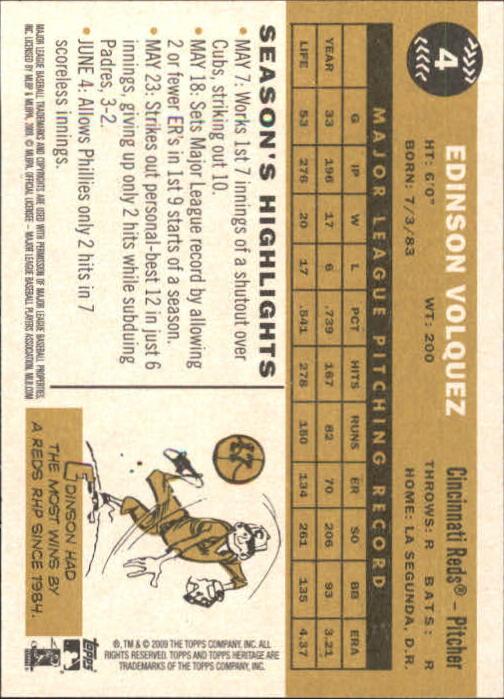 2009-Topps-Heritage-Baseball-Base-Singles-1-149-Pick-Your-Cards thumbnail 9