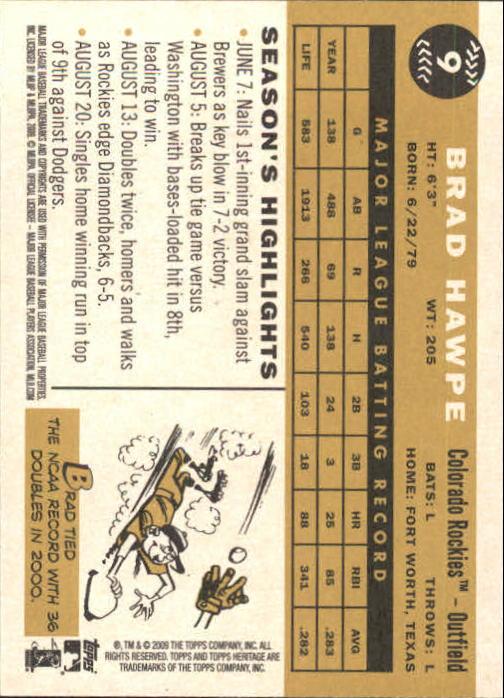 2009-Topps-Heritage-Baseball-Base-Singles-1-149-Pick-Your-Cards thumbnail 15