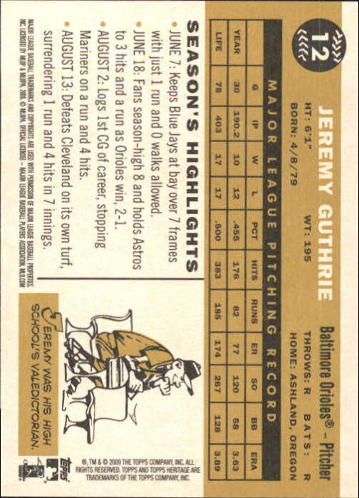 2009-Topps-Heritage-Baseball-Base-Singles-1-149-Pick-Your-Cards thumbnail 21