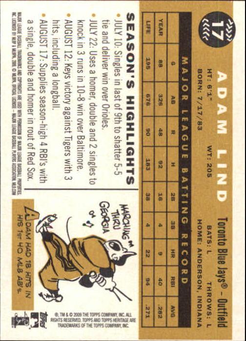 2009-Topps-Heritage-Baseball-Base-Singles-1-149-Pick-Your-Cards thumbnail 29