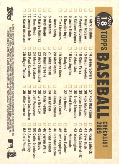 2009-Topps-Heritage-Baseball-Base-Singles-1-149-Pick-Your-Cards thumbnail 31