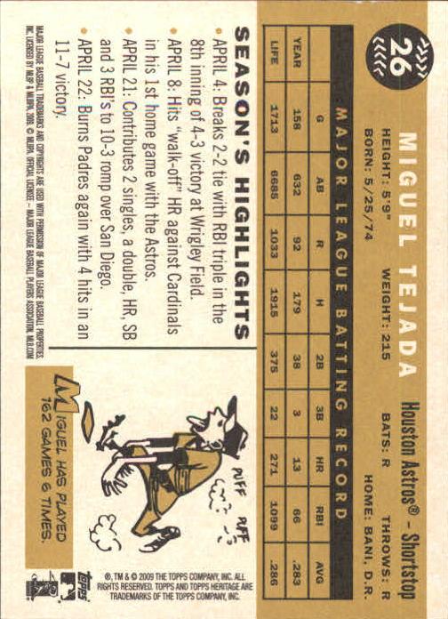 2009-Topps-Heritage-Baseball-Base-Singles-1-149-Pick-Your-Cards thumbnail 45