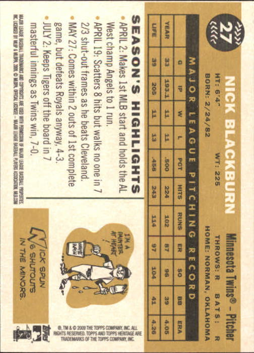 2009-Topps-Heritage-Baseball-Base-Singles-1-149-Pick-Your-Cards thumbnail 47