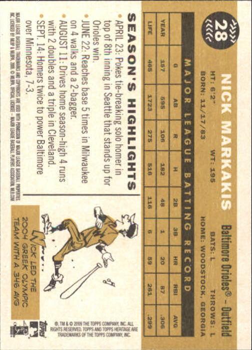 2009-Topps-Heritage-Baseball-Base-Singles-1-149-Pick-Your-Cards thumbnail 49
