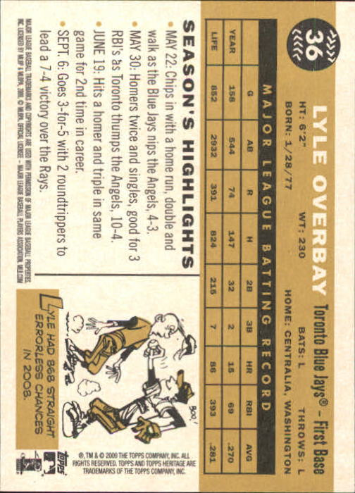 2009-Topps-Heritage-Baseball-Base-Singles-1-149-Pick-Your-Cards thumbnail 61