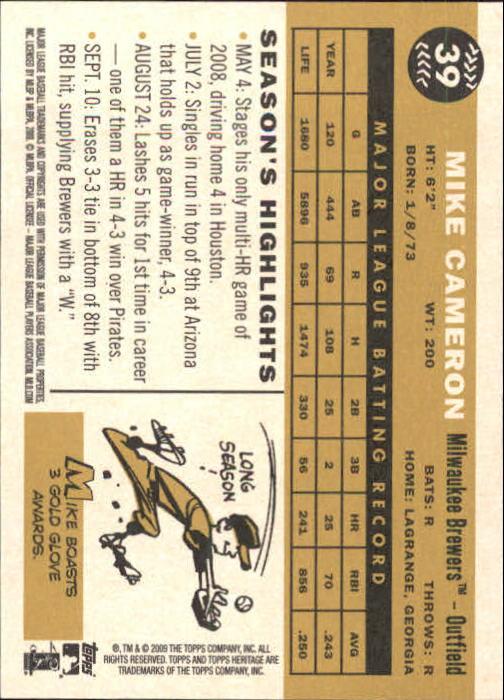 2009-Topps-Heritage-Baseball-Base-Singles-1-149-Pick-Your-Cards thumbnail 67