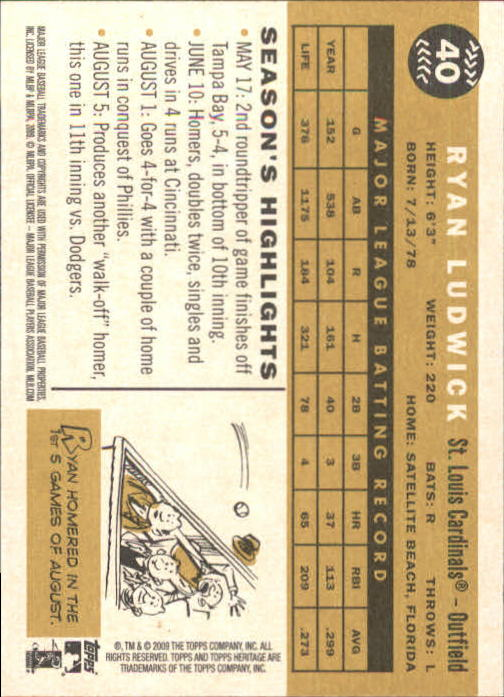2009-Topps-Heritage-Baseball-Base-Singles-1-149-Pick-Your-Cards thumbnail 69