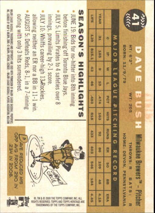 2009-Topps-Heritage-Baseball-Base-Singles-1-149-Pick-Your-Cards thumbnail 71