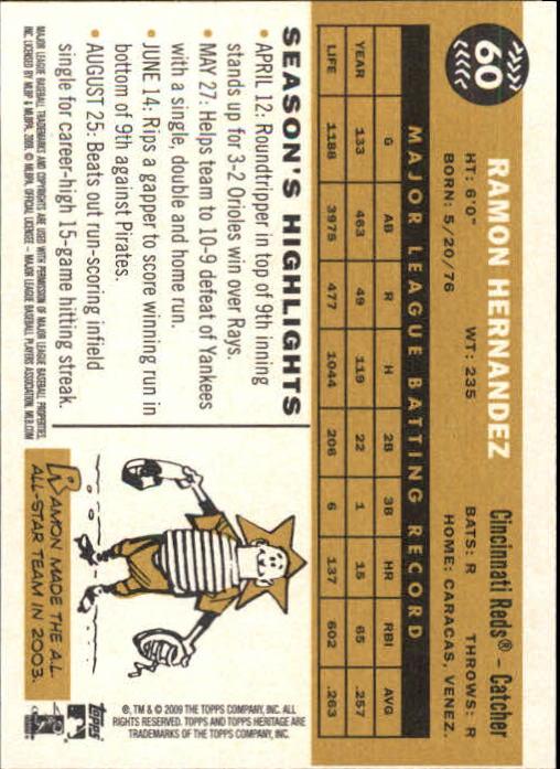 2009-Topps-Heritage-Baseball-Base-Singles-1-149-Pick-Your-Cards thumbnail 97