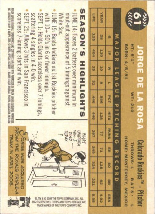 2009-Topps-Heritage-Baseball-Base-Singles-1-149-Pick-Your-Cards thumbnail 99