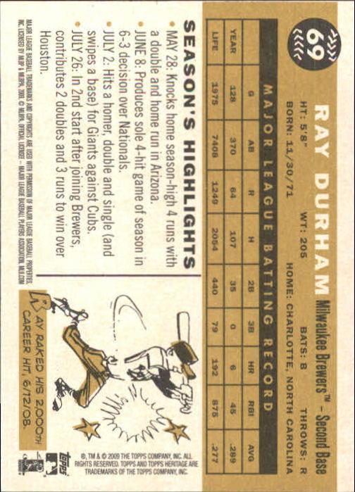 2009-Topps-Heritage-Baseball-Base-Singles-1-149-Pick-Your-Cards thumbnail 107