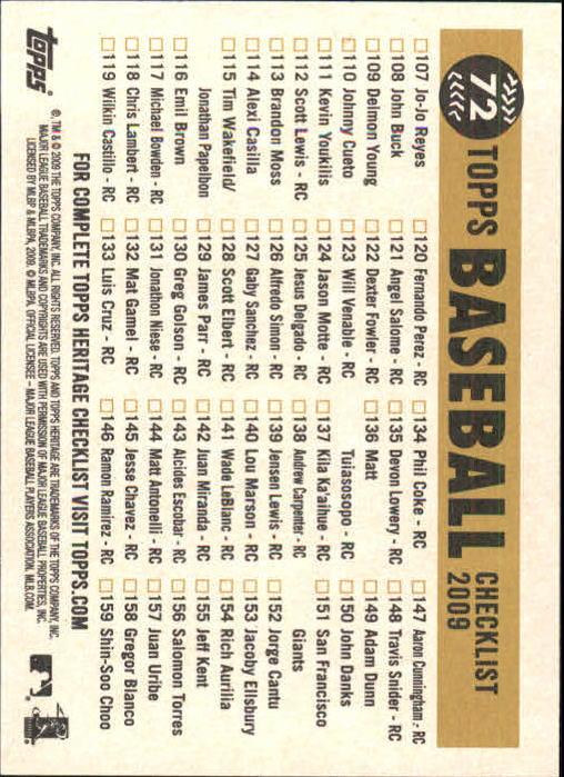 2009-Topps-Heritage-Baseball-Base-Singles-1-149-Pick-Your-Cards thumbnail 111