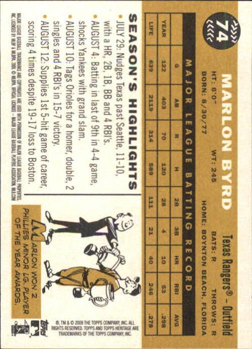 2009-Topps-Heritage-Baseball-Base-Singles-1-149-Pick-Your-Cards thumbnail 113