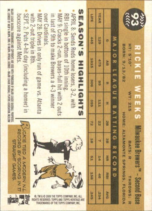 2009-Topps-Heritage-Baseball-Base-Singles-1-149-Pick-Your-Cards thumbnail 143