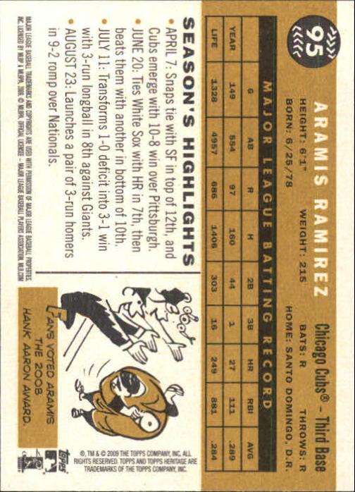 2009-Topps-Heritage-Baseball-Base-Singles-1-149-Pick-Your-Cards thumbnail 145