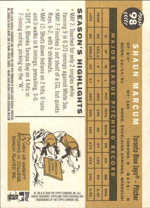 2009-Topps-Heritage-Baseball-Base-Singles-1-149-Pick-Your-Cards thumbnail 149