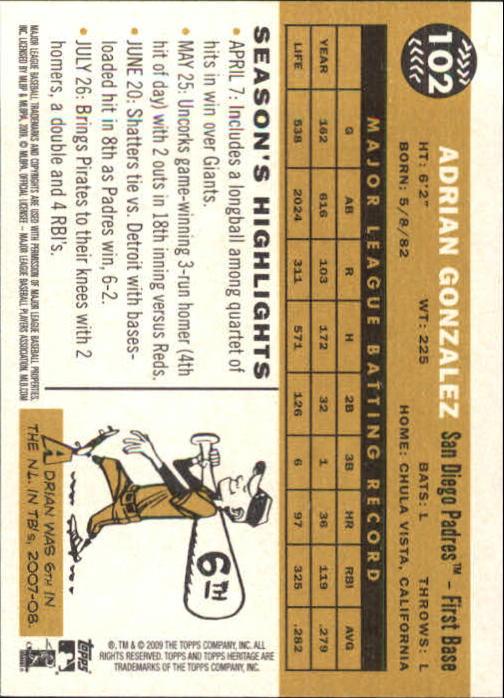 2009-Topps-Heritage-Baseball-Base-Singles-1-149-Pick-Your-Cards thumbnail 155