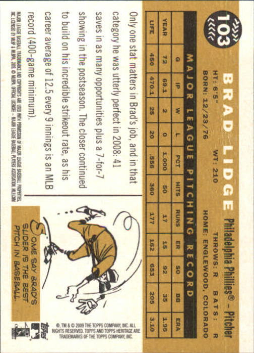 2009-Topps-Heritage-Baseball-Base-Singles-1-149-Pick-Your-Cards thumbnail 157