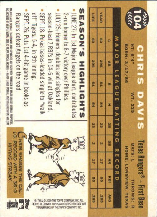 2009-Topps-Heritage-Baseball-Base-Singles-1-149-Pick-Your-Cards thumbnail 159