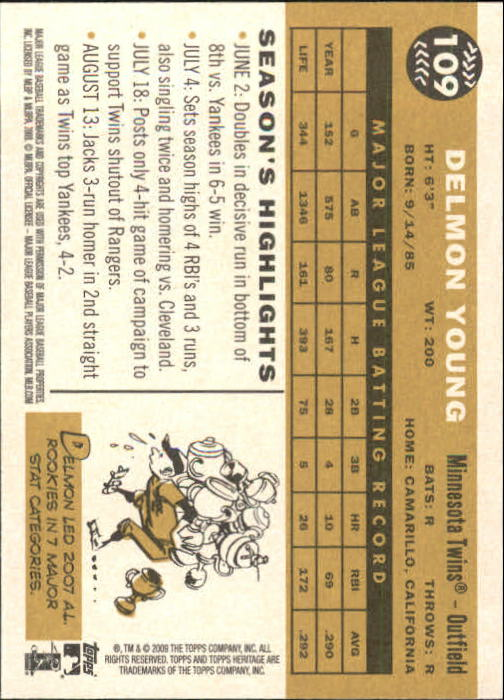 2009-Topps-Heritage-Baseball-Base-Singles-1-149-Pick-Your-Cards thumbnail 169