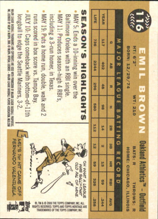 2009-Topps-Heritage-Baseball-Base-Singles-1-149-Pick-Your-Cards thumbnail 175
