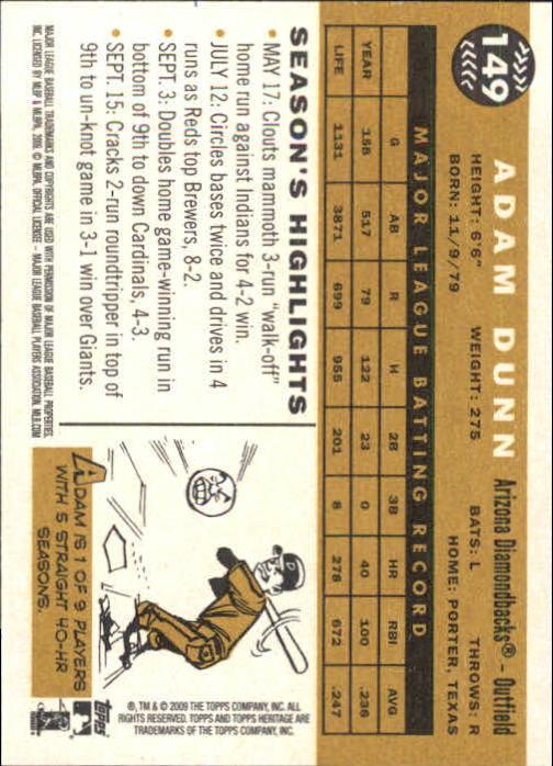 2009-Topps-Heritage-Baseball-Base-Singles-1-149-Pick-Your-Cards thumbnail 178