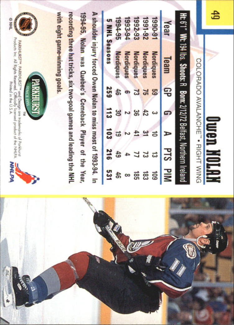 1995-96-Parkhurst-International-Hockey-Base-Singles-1-250-Pick-Your-Cards thumbnail 87