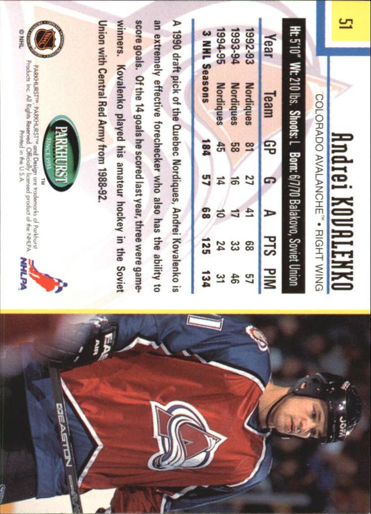 1995-96-Parkhurst-International-Hockey-Base-Singles-1-250-Pick-Your-Cards thumbnail 89