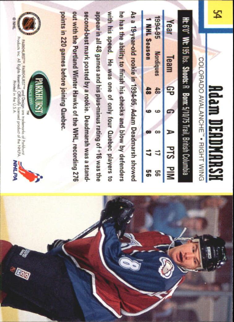 1995-96-Parkhurst-International-Hockey-Base-Singles-1-250-Pick-Your-Cards thumbnail 95