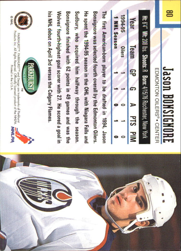 1995-96-Parkhurst-International-Hockey-Base-Singles-1-250-Pick-Your-Cards thumbnail 145
