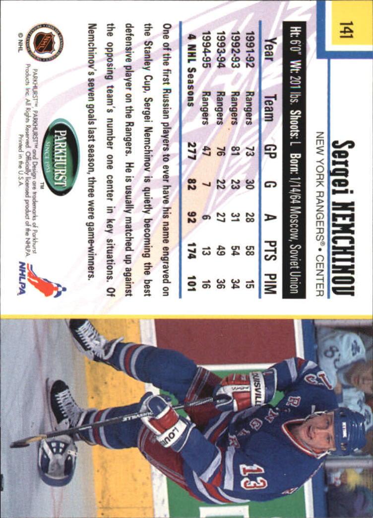 1995-96-Parkhurst-International-Hockey-Base-Singles-1-250-Pick-Your-Cards thumbnail 265