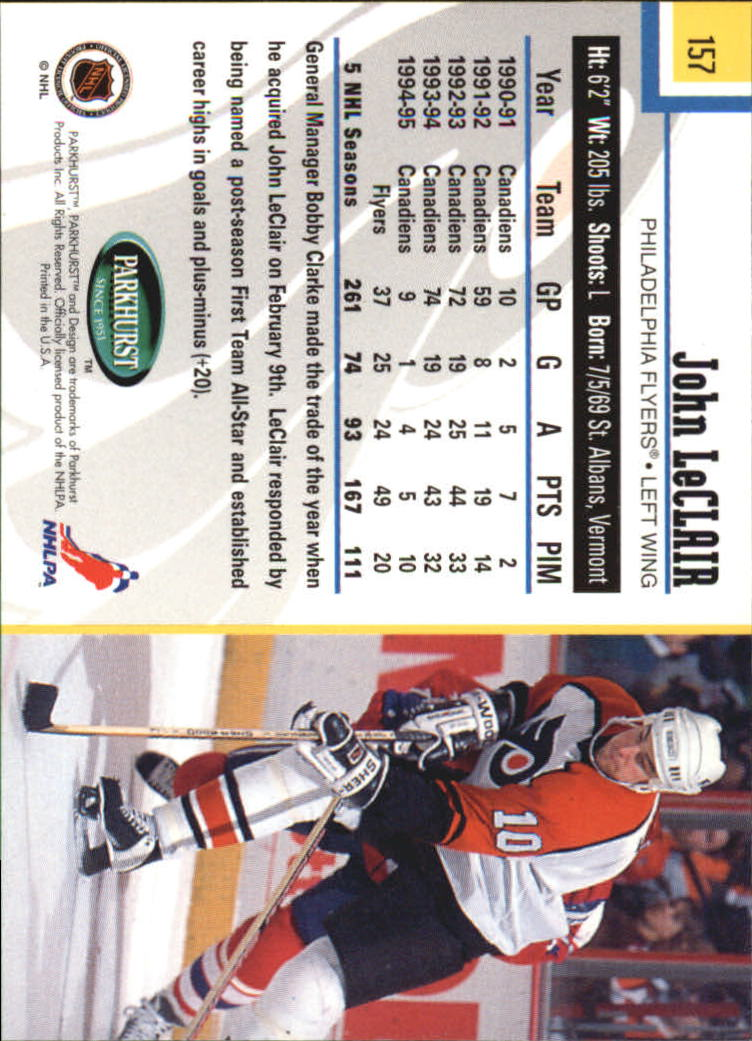 1995-96-Parkhurst-International-Hockey-Base-Singles-1-250-Pick-Your-Cards thumbnail 295