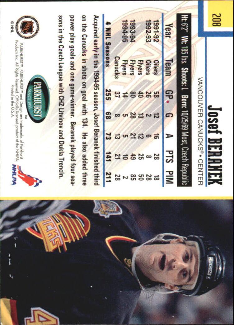 1995-96-Parkhurst-International-Hockey-Base-Singles-1-250-Pick-Your-Cards thumbnail 395