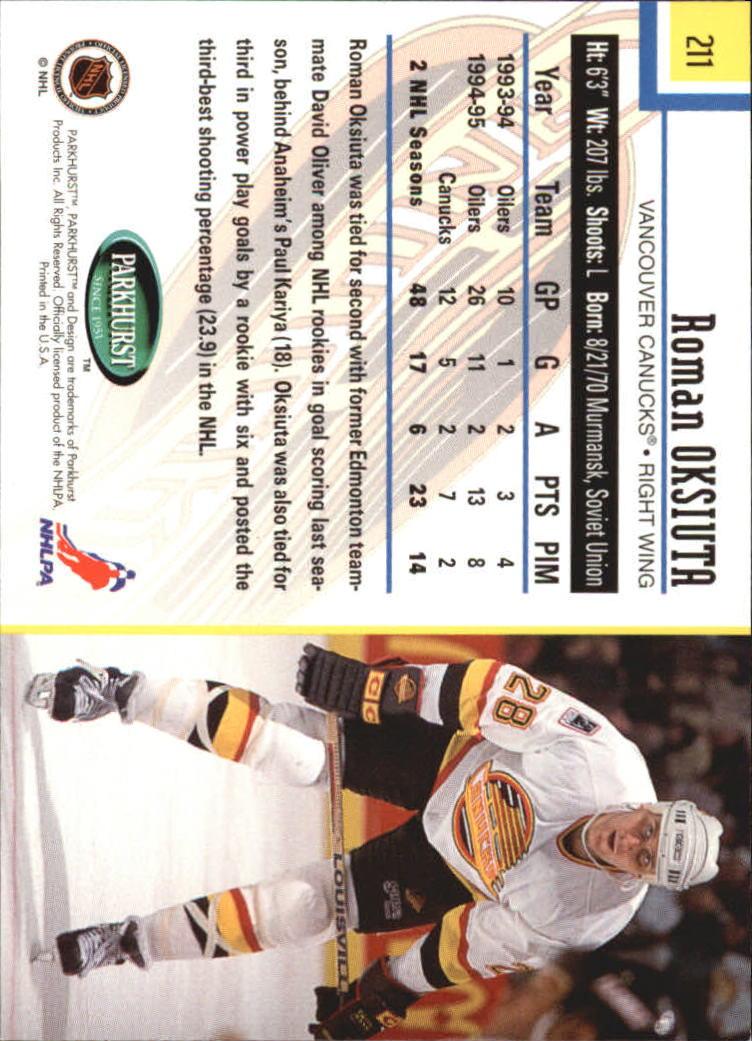 1995-96-Parkhurst-International-Hockey-Base-Singles-1-250-Pick-Your-Cards thumbnail 401