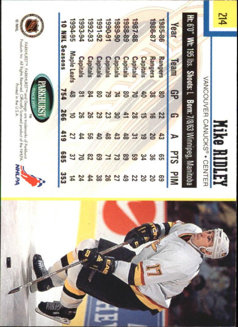 1995-96-Parkhurst-International-Hockey-Base-Singles-1-250-Pick-Your-Cards thumbnail 407