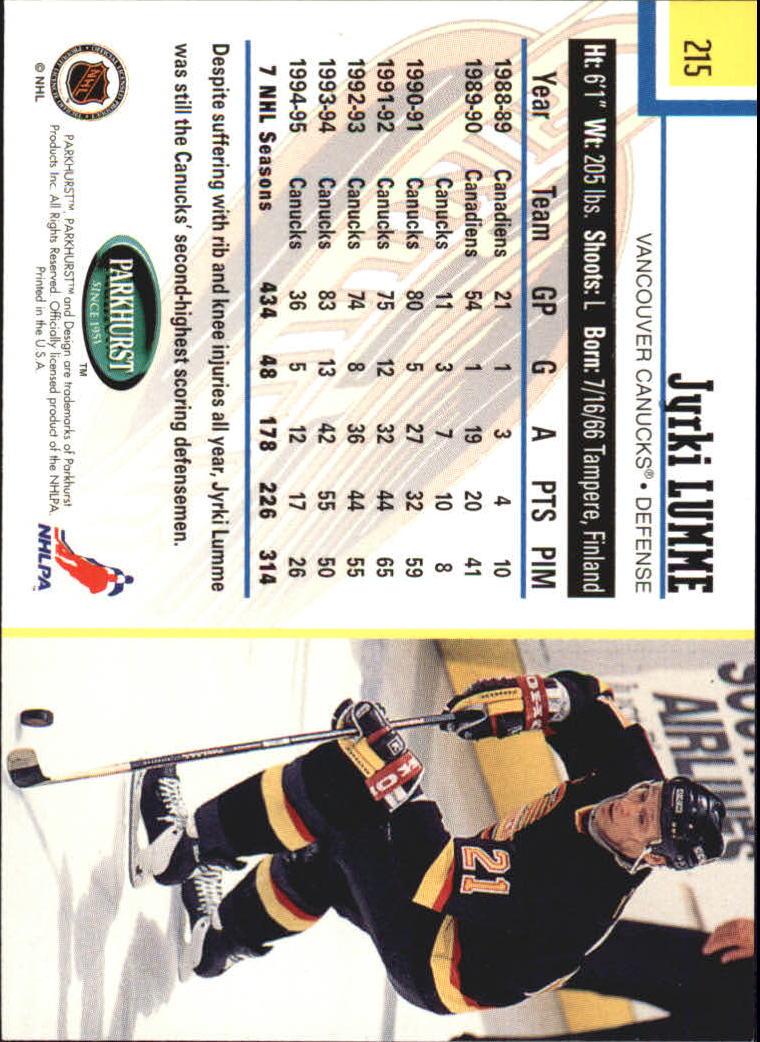 1995-96-Parkhurst-International-Hockey-Base-Singles-1-250-Pick-Your-Cards thumbnail 409