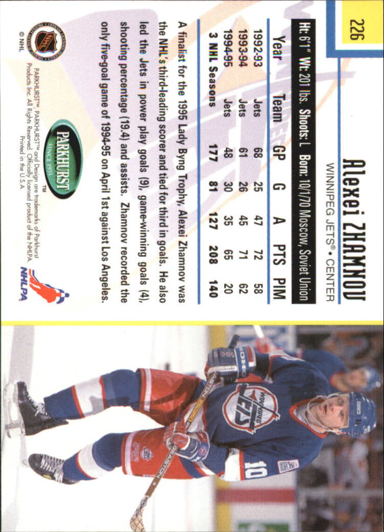 1995-96-Parkhurst-International-Hockey-Base-Singles-1-250-Pick-Your-Cards thumbnail 431