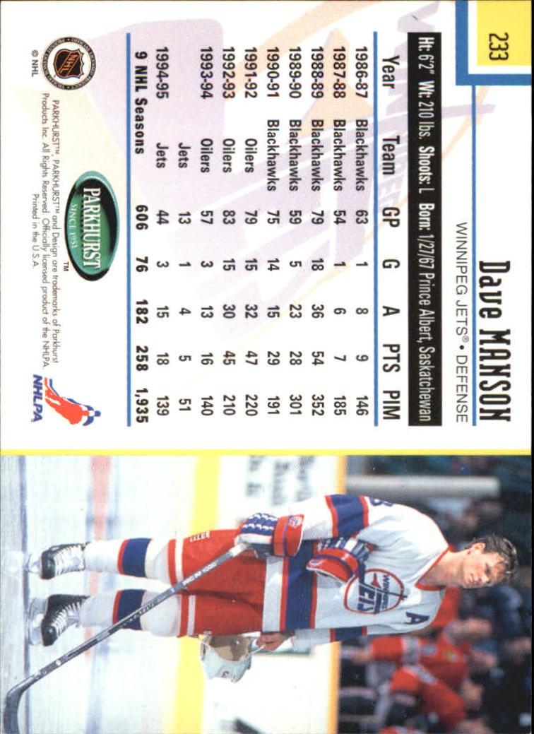 1995-96-Parkhurst-International-Hockey-Base-Singles-1-250-Pick-Your-Cards thumbnail 439